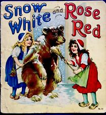SNOW WHITE & ROSE RED ~1920's Children's Classic Color Plates Lithograph Book