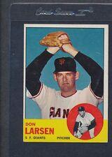 1963 Topps #163 Don Larsen Giants VG/EX *668