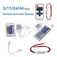 3/11/24/44 Keys RF/IR Remote Controller For 3528 5050 RGB LED Strip Light 12V