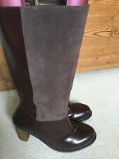 Doc Martens Worn Once Parisa Brown Leather/suede Knee High Boots Uk6/39