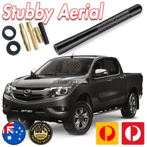 Antenna / Aerial Stubby Bee Sting for Mazda BT-50 2011-2021 Black Carbon 12CM