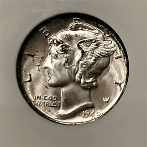 1940-S MERCURY DIME NGC MS 66** AMAZING LUSTEROUS BEAUTY 👀