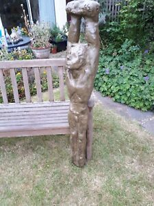 VERY RARE BRONZE / RESIN SCULPTURE. IRISH COMMISSIONED WORK OF ART OF NUDE BOY .