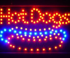 10*19 Animated Motion LED Hot Dogs SIGN OnOff Switch Bright Open Light Neon