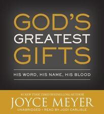 God's Greatest Gifts :  by Joyce Meyer (2016) 4 CDs, Unabridged