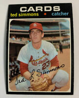 1971 Ted Simmons # 117 Rookie RC St. Louis Cardinals Topps Baseball Card
