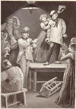 Gravure Etching Incisione P. Féval Le Fils Du Diable P. PHILIPPOTEAUX A. NARGEOT