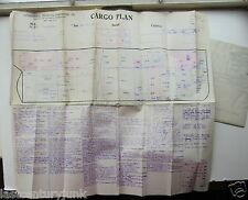SS Fluor spar Cargo Ship  WWII Cargo Plan and Notes c 1940s