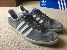 Adidas Gazelle OG UK 10 Grey Rare Deadstock Trainers Shoes Casual
