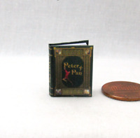 PETER PAN Dollhouse Miniature Book Color Illustrated 1:12 Scale Book Barrie