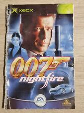 007 JAMES BOND NIGHTFIRE XBOX (NOTICE SEUL MANUAL ONLY)