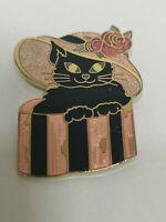 Vintage Closine Black Cat Brooch Pin Rose Gold Retro Kitsch 90s Y2K Gift Bold