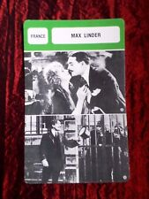 MAX LINDER   -  MOVIE STAR - FILM TRADE CARD - FRENCH