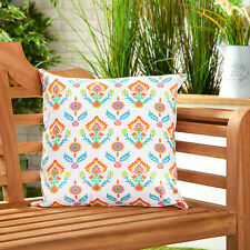 Orange Floral Waterproof Canvas Outdoor Scatter Garden Filled Cushion Printed