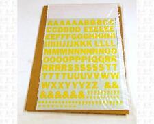 Virnex HO Decals Medium Yellow 7/16 Inches Bold Gothic Letter Set 2073 Alphabet