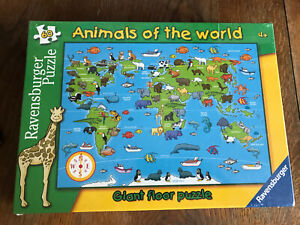 New Sealed Ravensburger Puzzle Animals of the World Giant Floor Puzzle 60 pc 4+
