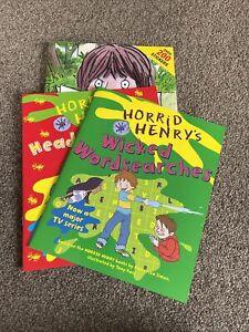 Horrid Henry Activity Sticker Book Bundle 3 Books