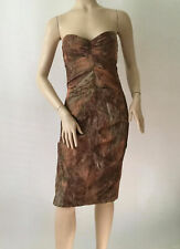 NEW Sexy Nicole Miller Copper/Brown Strapless Dress (Size 4) - MSRP $410.00!