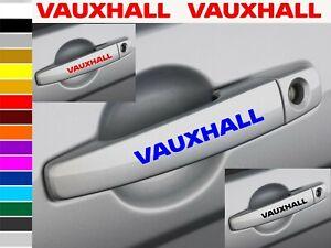 VAUXHALL car wing mirror / Door Handle decals vinyl stickers (6 pieces) 100x11mm