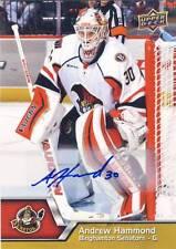 2014-15 Upper Deck AHL ANDREW HAMMOND Autograph Auto Rookie #100 Senators