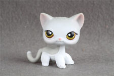 LPS #138 Grey & White with Green Brown Hazel Eyes