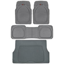 Motor Trend Deep Dish Rubber Floor Mats with Cargo Trunk Mat Heavy Duty Interior