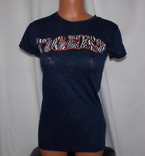 New NCAA Official AUBURN TIGERS Ladies Small SOFFE BURNOUT S/S TEE Navy