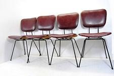4 Sedie DORO CUNEO Dinning Chairs 60' Mid Century Minimal Interior Carlo Mollino