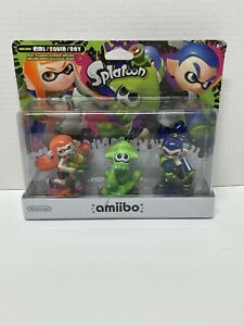 Inkling Amiibo Figures 3 Pack Girl Squid Boy Splatoon Series Nintendo Switch New