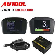 2.4'' X50 Plus Car HUD OBD Head Up Display Digital Km/H MPH Alarm Speedometer