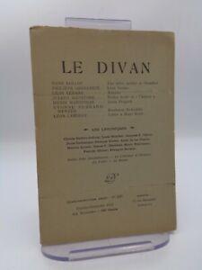 Revue LE DIVAN n°296 Stendhal Walter Scott Louis Pergaud ...
