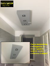 lampadario moderno design plafoniera a soffitto in cartongesso personalizzabile