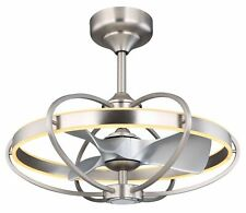 Ceiling Fan Almeni Silver with Remote Control And Lighting