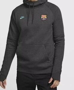 Nike FC Barcelona Fleece Hoodie Pullover Sweater Barca CI2090-065 Youth S