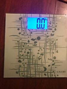Camry Digital Body Scale Ultra Slim with Extra Large 4.3 Inches Back-light Displ