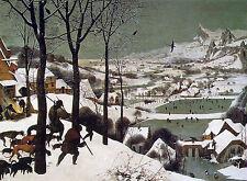 Hunters in the Snow by Pieter Bruegel the Elder Fine Art Giclee Canvas Print