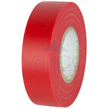2 X RED ELECTRICAL PVC INSULATION TAPE FLAME RETARDANT 19mm X 20m