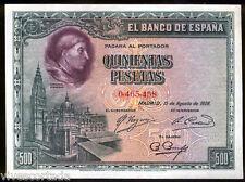 España 500 Pesetas 1928 Cardenal Cisneros @ Excelente @