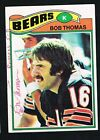 Bob Thomas 1977 Topps Football Card #382 signed autograph auto Trading Card