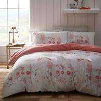 Pink Duvet Covers Floral Meadow Country Flowers Coral Quilt Cover Bedding Sets