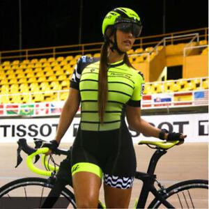 Pro Team Triathlon Suit Women Cycling Jersey Skinsuit short sleeve Cycling Ropa
