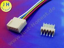 BUCHSENLEISTE+STECKER Gerade 5 polig  HEADER 2.54mm + Male Connector PCB #A1839