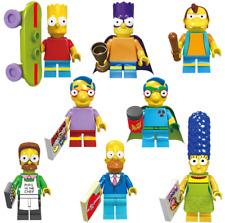 8 pcs The Simpsons Family Mini figures Building Block Toy Blocks Contruction Toy