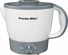Proctor Silex 32oz Adjustable Temperature Electric Hot Pot for Tea, White
