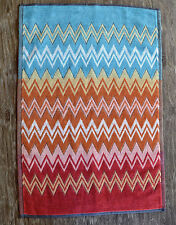 Missoni Home Otello Hand Towel, Multi Color Zig Zag Stripe Pattern