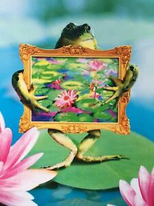 """""""It's More Fun When You're in the Picture!"""" MISS YOU / GET WELL Avanti Card FROG"""