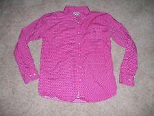 Boy Resistol Brand Long Sleeve Button Shirt Dark Pinks SiZe XL EUC!!!