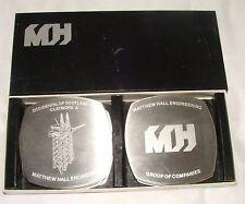 Matthew Hall Engineering Coasters OFFSHORE Drilling Platforms Etchings on Metal