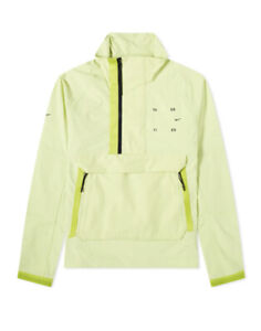 Nike Tech Pack Woven Reflective Running Pocket Half Zip Jacket Lime Size Small