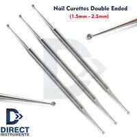 3Pcs Chiropody Beauty Nail Curette Dermal Cleaner Nail Care Cleaning Podiatry